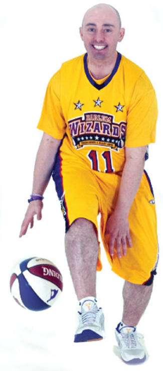 Mike Simmel Harlem Wizards Mighty Mike