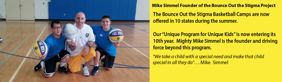 Mighty Mike Simmel Bounce Out the Stigma Basketball Camp